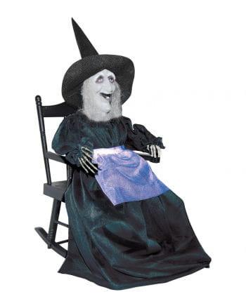 Hexe im Schaukelstuhl Animatronic