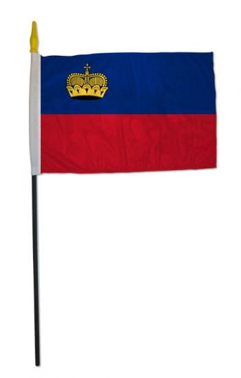 Stockflagge Liechtenstein klein