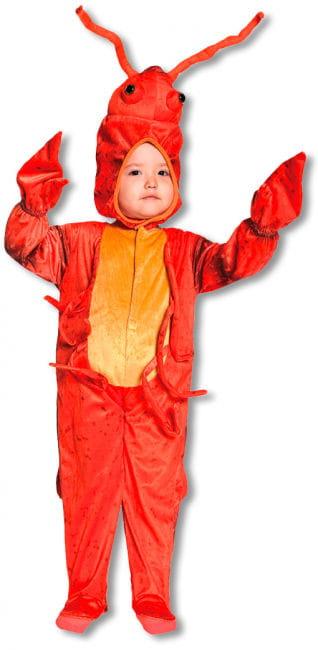 Roter Hummer Kinderkostüm Medium