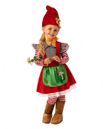Little Garden Gnome Girl Child Costume