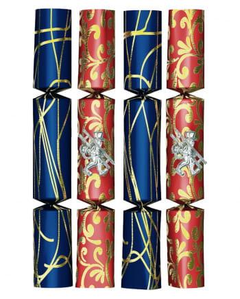 4 St. Knall-Bomben rot-blau-gold