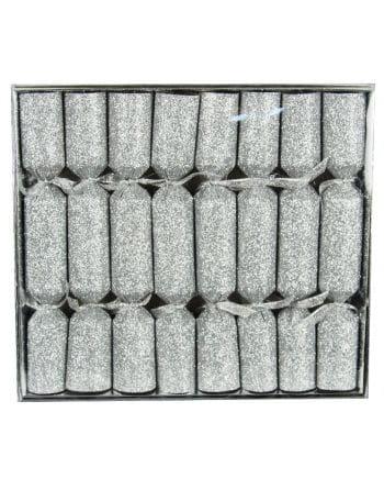Knallbonbons Glitzereffekt Silber 8 St.