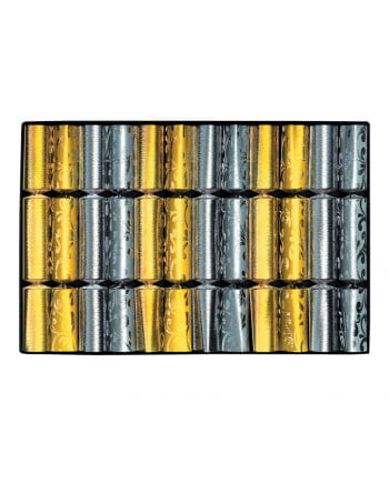 Christmas crackers gold / silver 12 St.