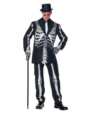 Kostüm-Anzug mit Skelett Aufdruck