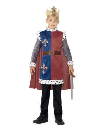 König Artus Kinderkostüm mit Krone