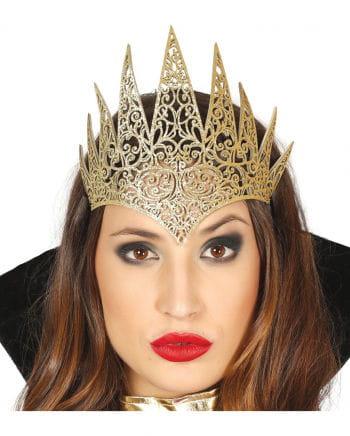 Goldene Glitzer Königin Krone