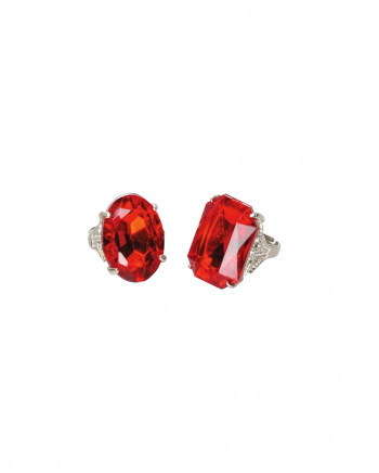 Costume Ring With Red Stone