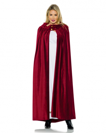 Costume Cape Red With Buttons
