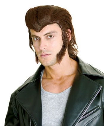 Sideburns Brown with Adhesive Pads