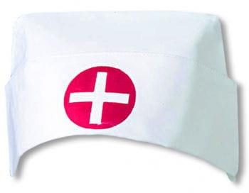 Weiße Krankenschwester Haube mit Kreuz