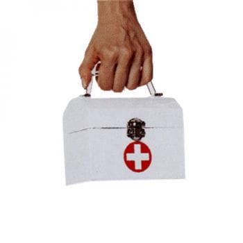 Krankenschwester Handtasche weiß
