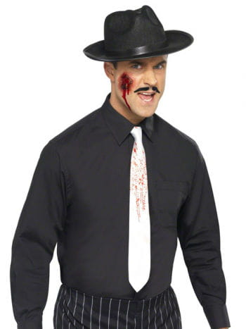 White tie with blood spatter