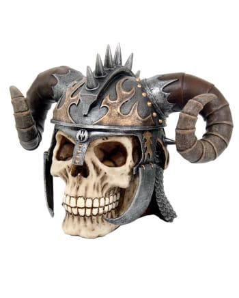 Kriegerschädel Totenkopf mit Hörner