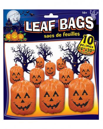 Pumpkin Laub Säcke 10 Stück