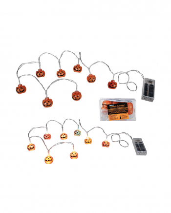 Pumpkin Light Chain With Colour Changing LED 1,3m
