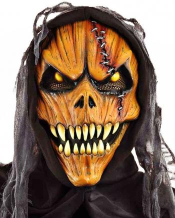 Kürbis Monstermaske mit Fangzähnen