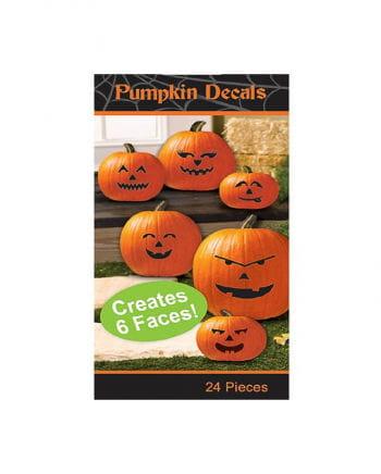 Pumpkin faces for sticking