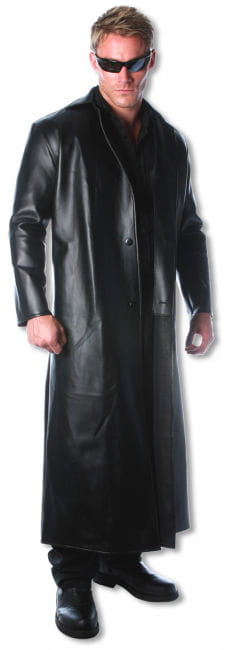 Faux Leather Coat Matrix