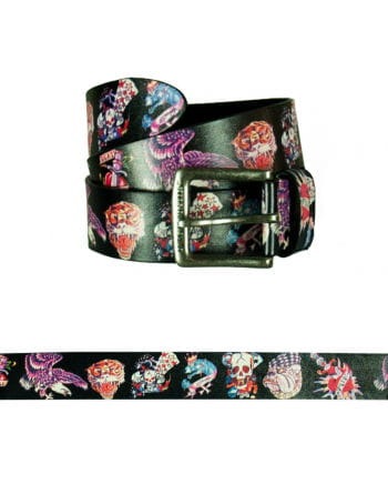 Leather belt tattoo designs Colorful