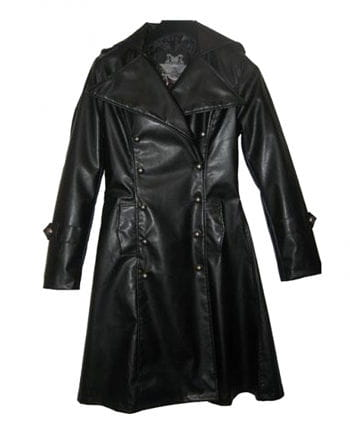 Imitation Leather Uniform Coat L