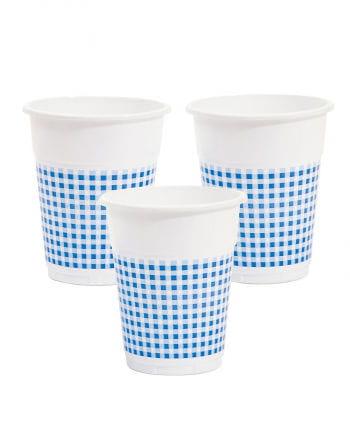 25 Plastic Cup White / Blue 0,5l