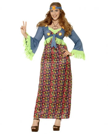 Curvy Hippie Lady Plus Size Costume