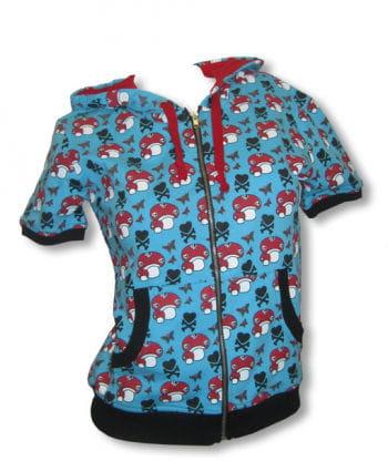 Short sleeve hoodie blue