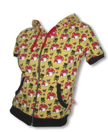 Short sleeve hoodie yellow