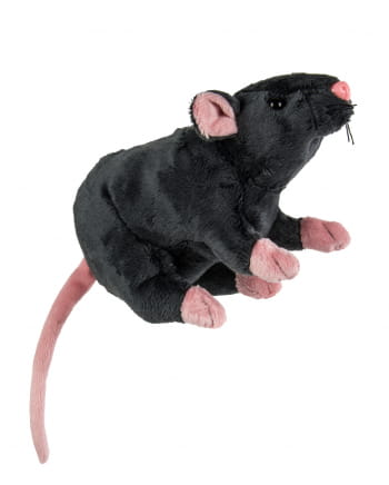 Cuddly Toy Rat 19cm Gray