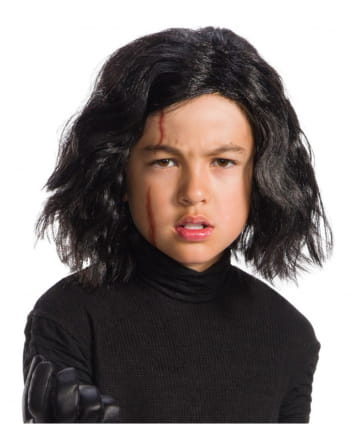 Kylo Ren child wig and scar