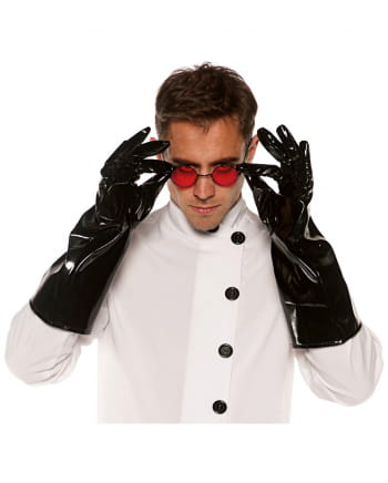 Kostüm Handschuhe aus Vinyl schwarz
