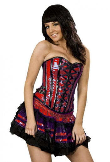 Paint Overbust Corset with Buckles