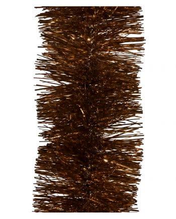 Lametta-Girlande in Kupfer 2,7m