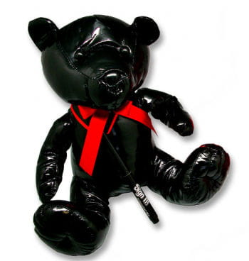Patent Leather Teddy Bear