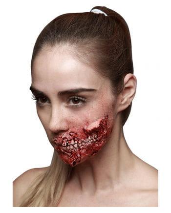Zombie Kieferfraß Latexwunde