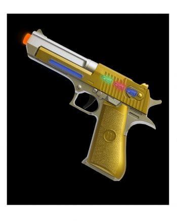 LED Light & Sound Steam Plated Laser Pistole