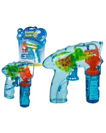 LED Soap Bubble Gun Incl. Soapsuds