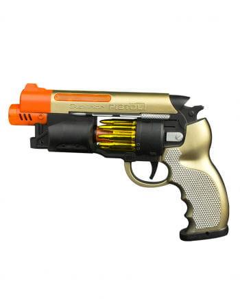 Light & Sound LED Selbstlader Pistole 21cm