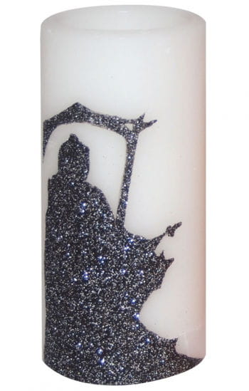 LED Candle White with Glittering Reaper