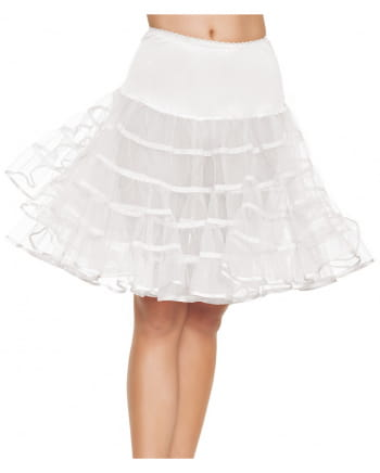 Knielanger Petticoat weiß