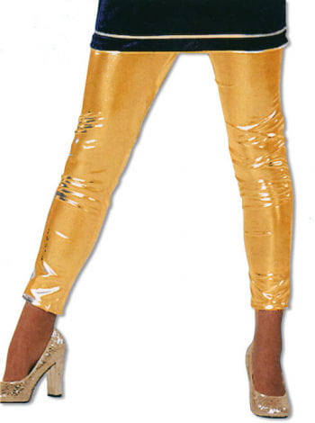 Leggins Gold Glanzoptik XXL /44