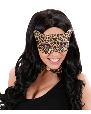 Leopard-Print Augenmaske