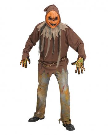 Glowing Pumpkin Zombie Costume One Size