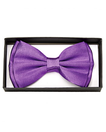 Purple Satin Bow Tie Deluxe
