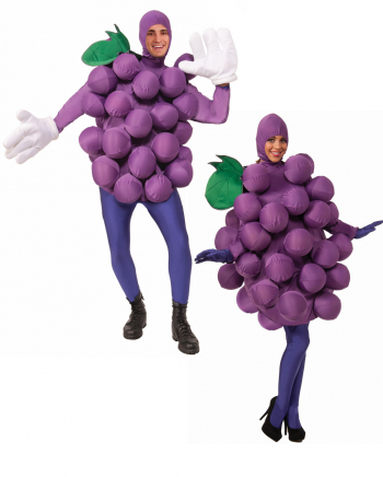 Purple Grape Costume With Balloons