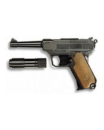 Lionmatic Pistole mit Schalldämpfer