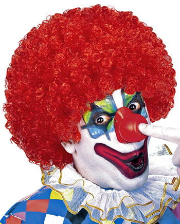 Curly Clown Wig Red