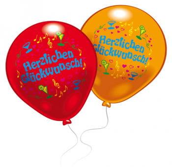 Bunte Glückwunsch Luftballons