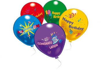 Luftballons Happy Birthday 10 St.