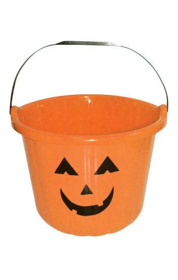 Grinsender Halloween Eimer orange